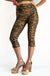 Gold Tiger Crop Capri Pants