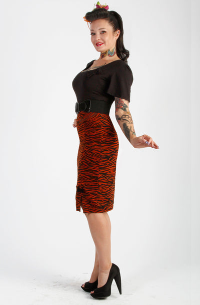 Tiger Rouge Pencil skirt