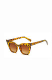 Tortoise shell retro catseye sunglasses