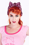 Pink leopard turban - Bonsai Kitten retro clothing