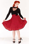 Red Tartan Bow Skirt