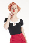Wednesday Addams top - Bonsai Kitten retro clothing