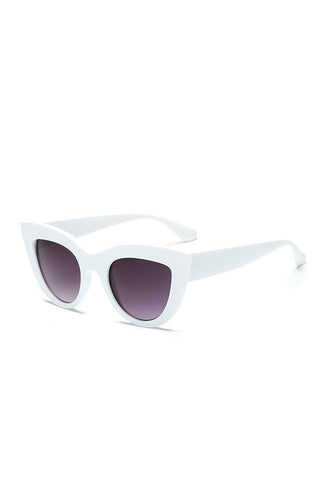 White cats eye sunglasses