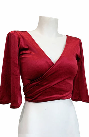 Ruby Red wrap top