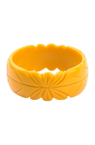 Tiki bracelet - yellow - Bonsai Kitten retro clothing