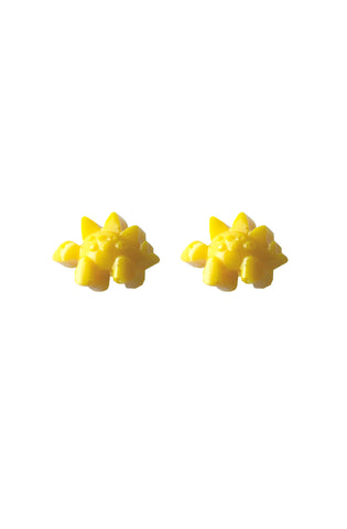 Yellow dino earrings