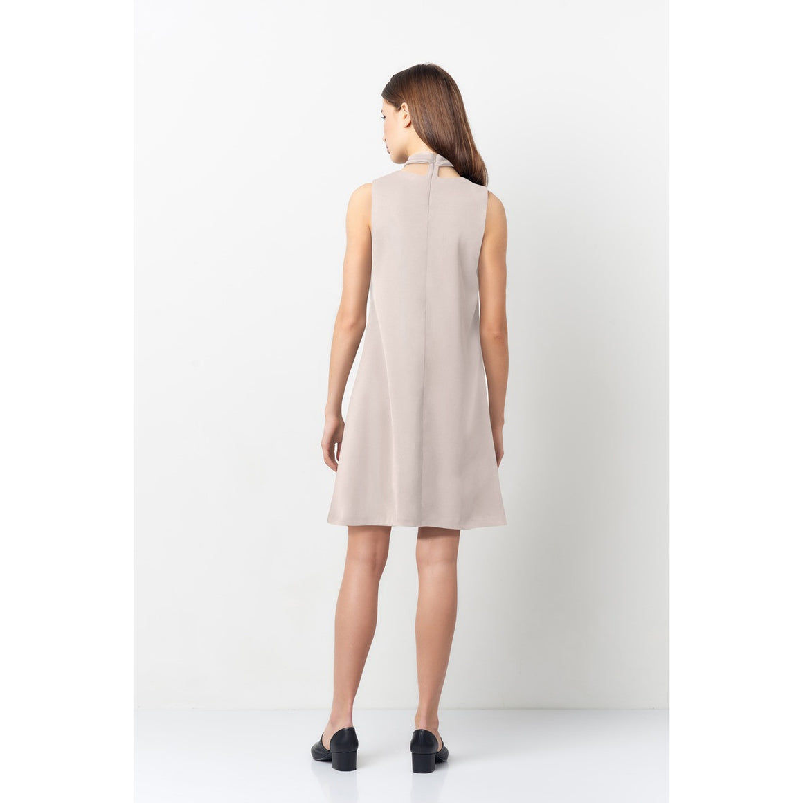 Taupe Choker Dress