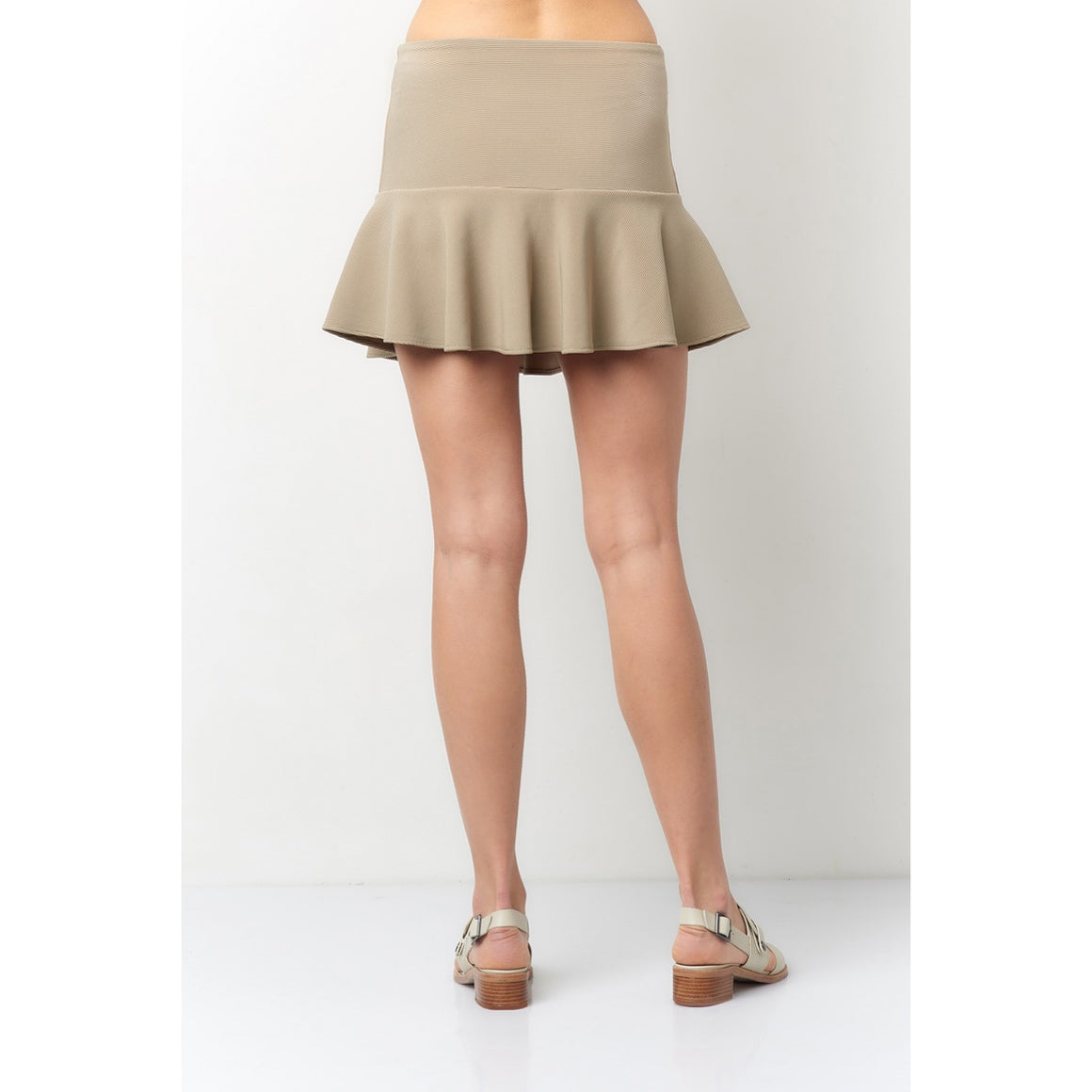 Sophia Khaki Mini Skirt