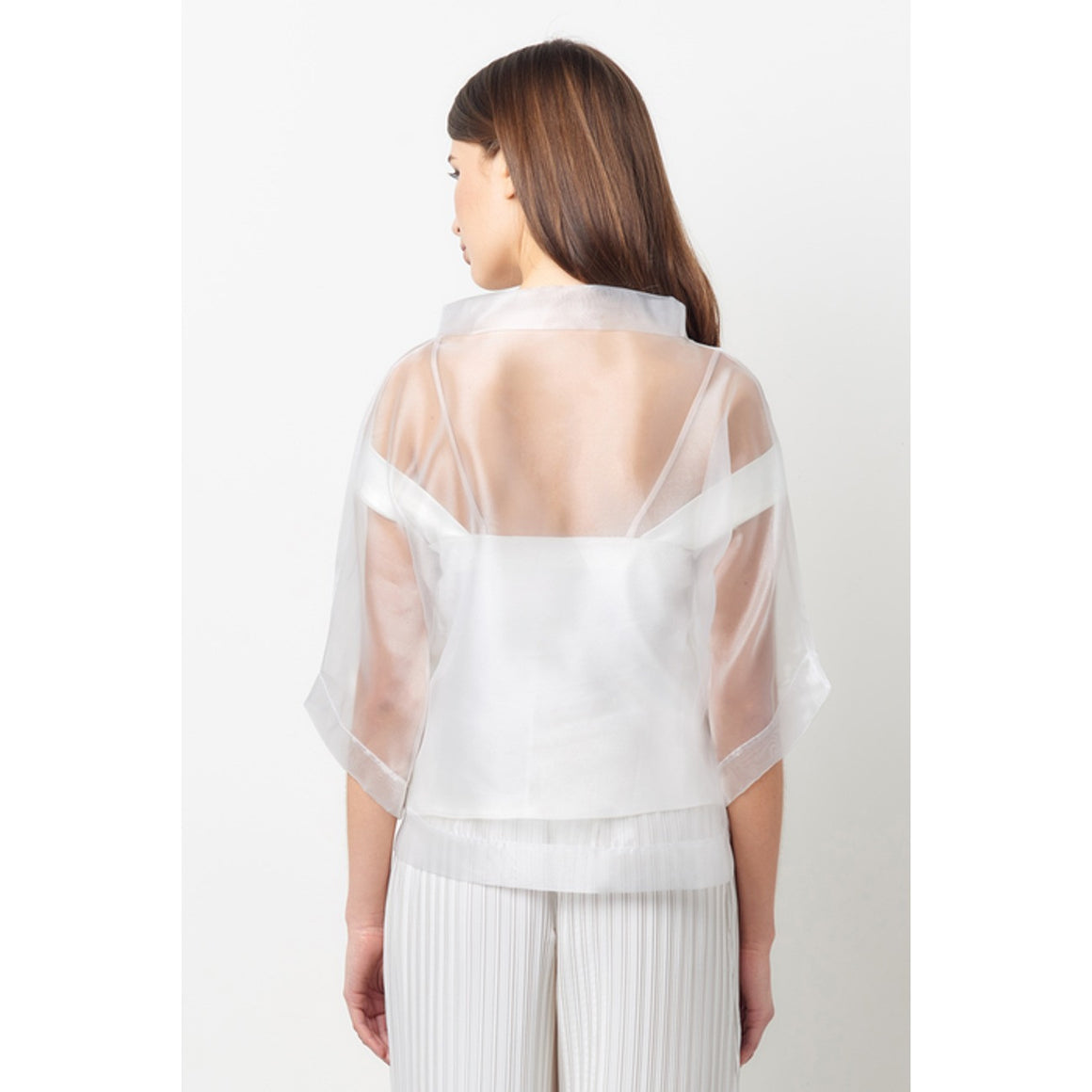 Vionnet Sheer Organza Top