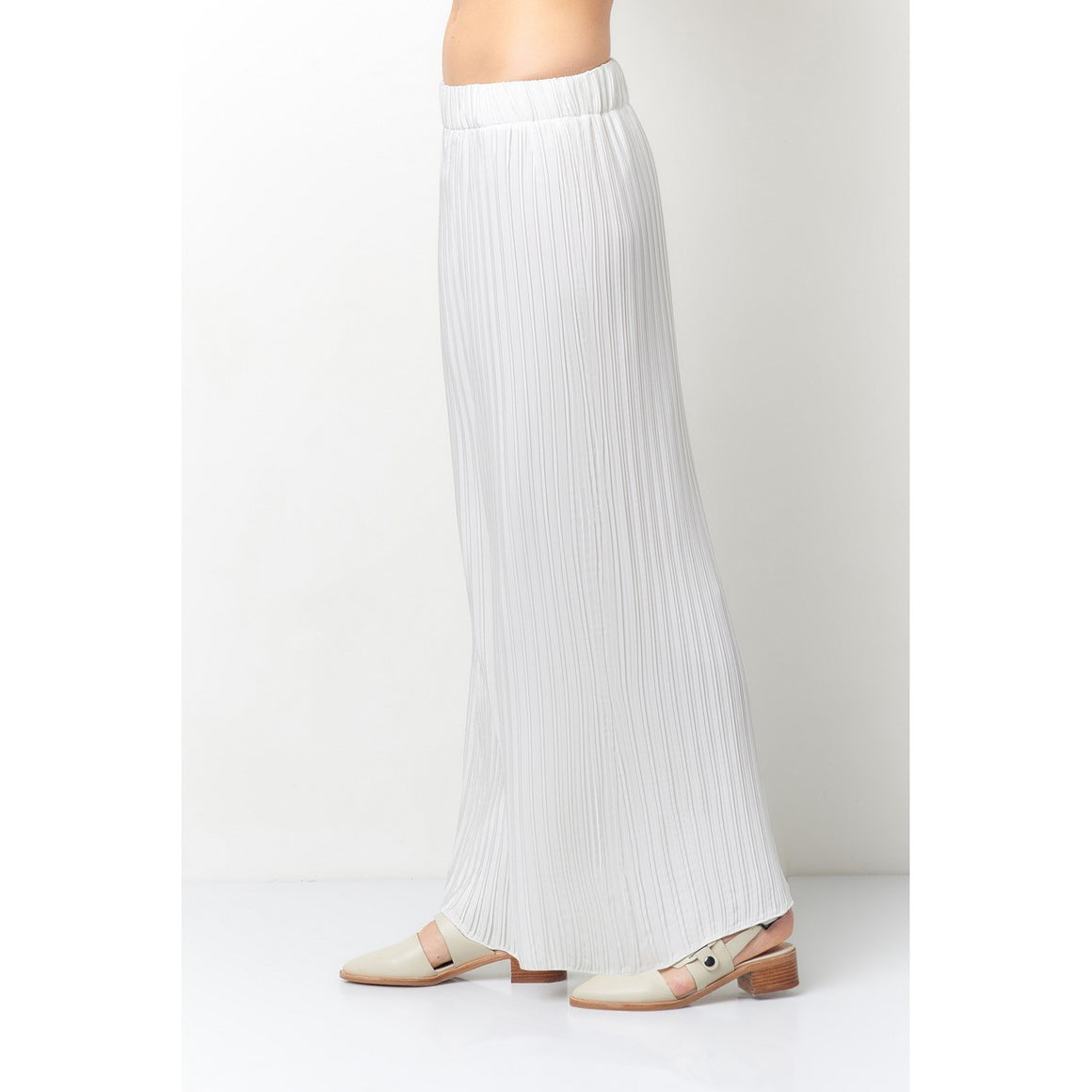 Simonetta Pleated Wide Leg Pants