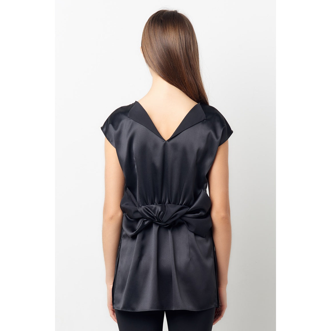 Lana Black Reversible Knot Top