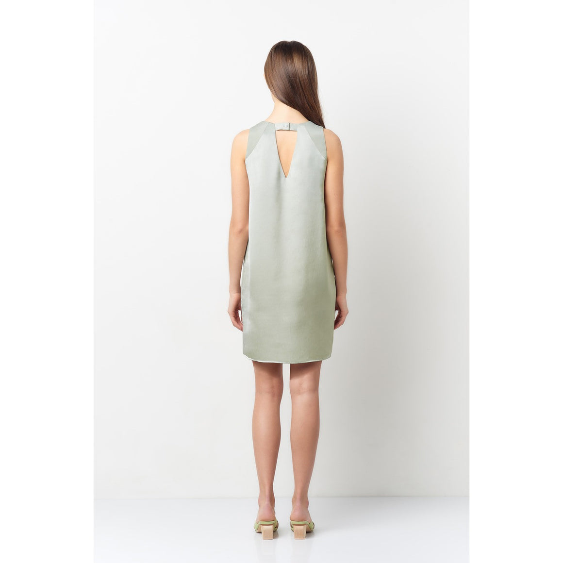 Victoria Mint 3 Line V-Neck Dress