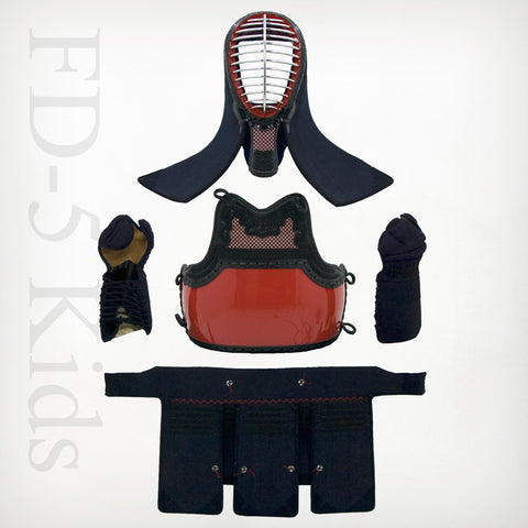 Kids Custom FD-5mm Machine-stitched Kendo Bogu Set
