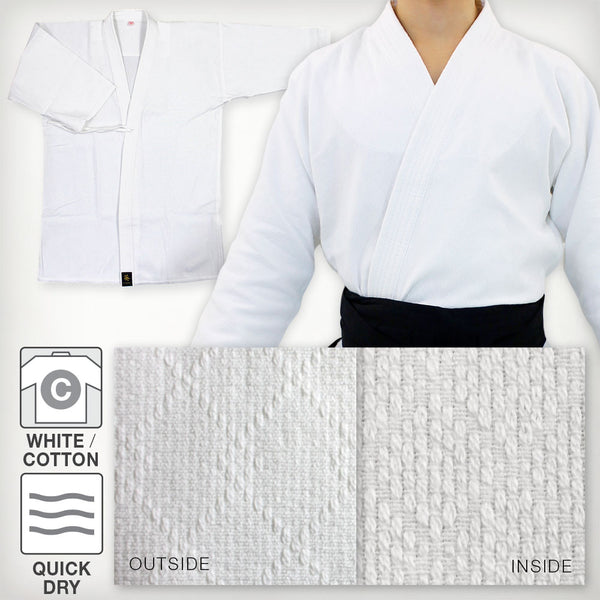 White Ultra-lightweight Softened Cotton Iaido Gi