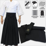 [New] Cotton Basic Iaido Gi, #11000 Hakama & Cotton Obi Set