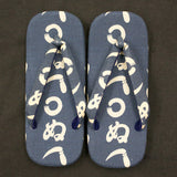 Japanese Setta Sandals (Kamawanu Pattern)