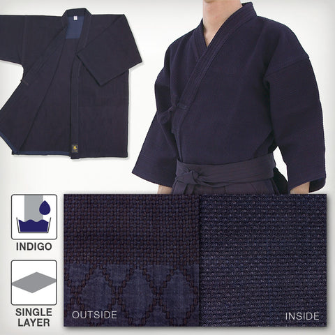 Deluxe Indigo-Dyed Single Layered Kendo Gi