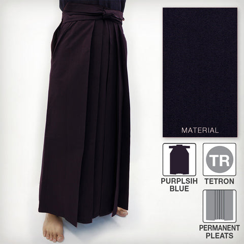 Deluxe Tetron Hakama - Purplish Blue (Permanent Pleats)