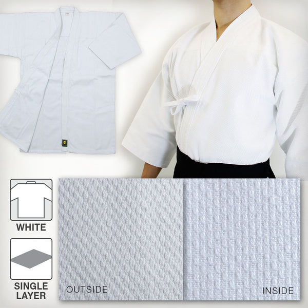 Standard Lightweight Single Layered Kendo Gi - White