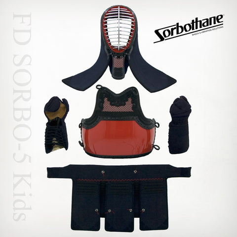 "Kids Custom FD SORBO-5mm ""Shock-Absorbing"" Machine-stitched Kendo Bogu Set"