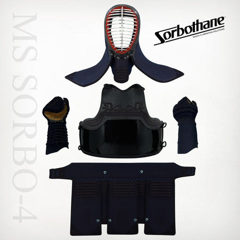 "Custom MS SORBO-4mm ""Shock-Absorbing"" Machine-stitched Kendo Bogu Set"