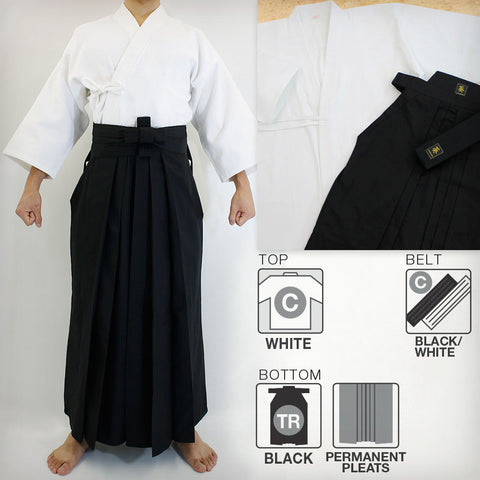 Ultra-Lightweight Softened Cotton Iaido Gi, Tetron Hakama & Cotton Obi Set