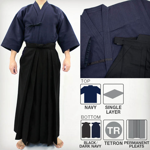 Standard Lightweight Single Layered Gi & DX Tetron Hakama Set