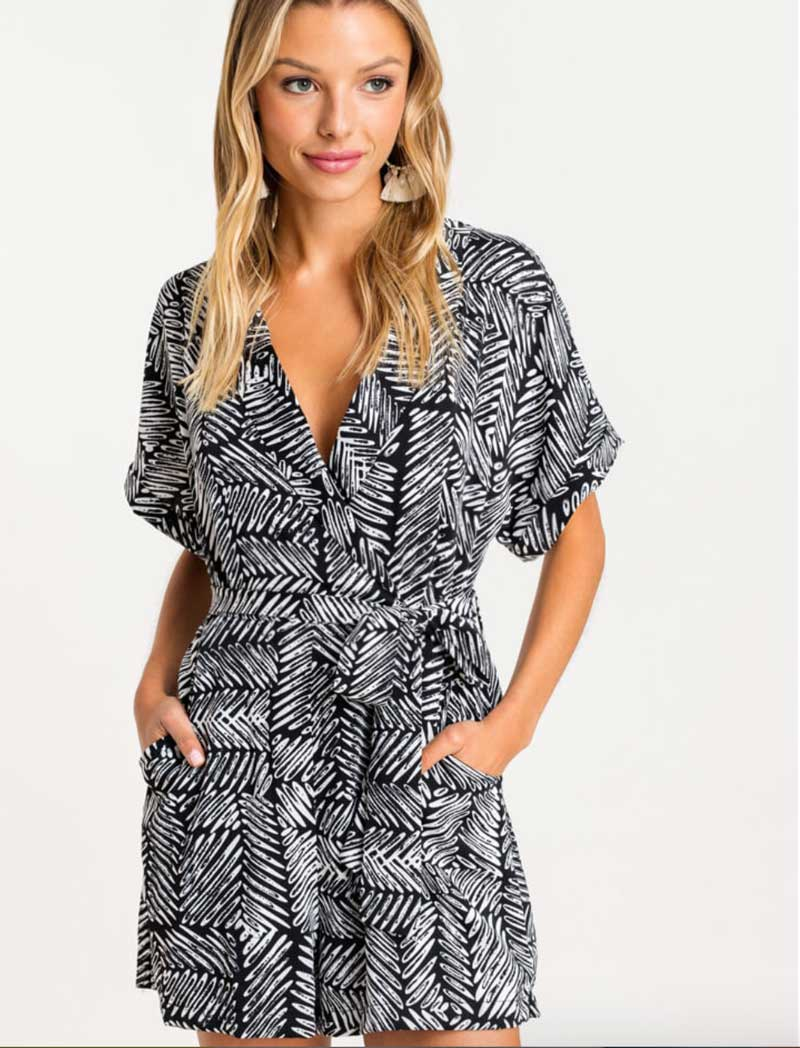 Tropical Collared Romper - RESORT COLLECTION