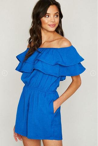 Off Shoulder Maxi Romper