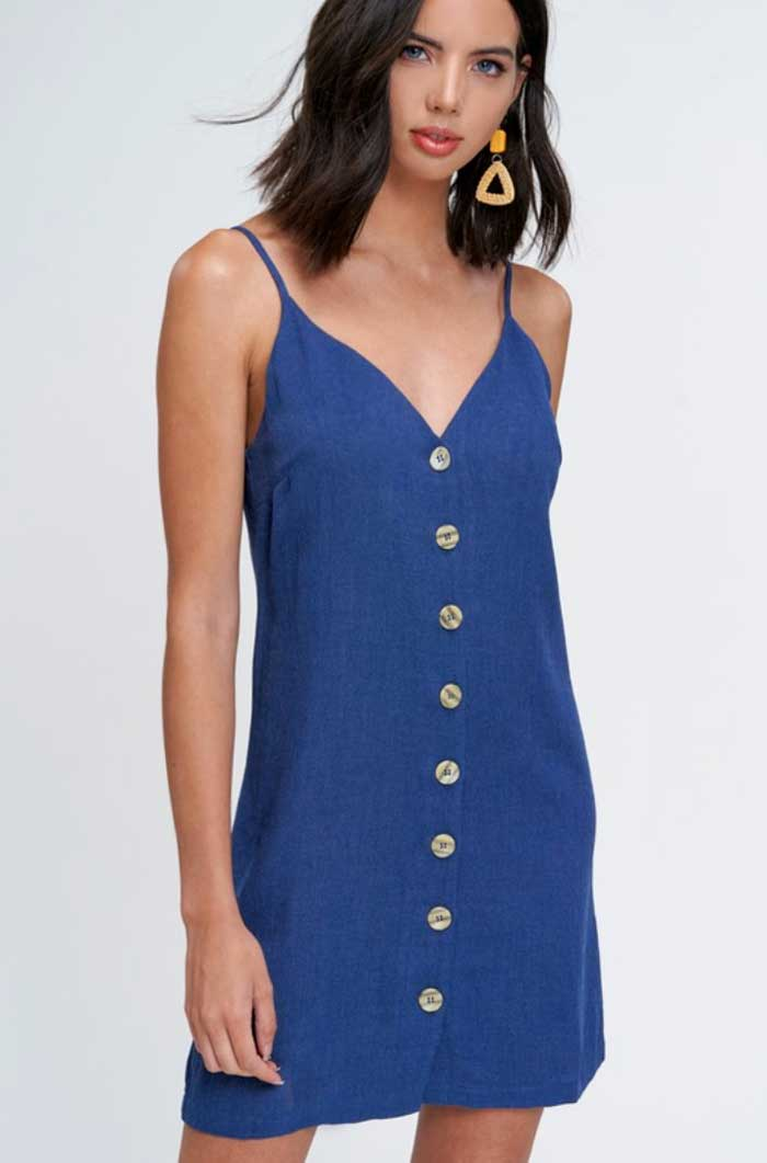 Coconut Button Cami Dress - Jade Creek Boutique
