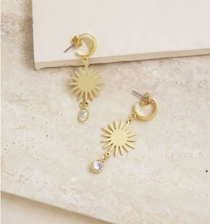 Mini Starburst and Crystal Earrings - Jade Creek Boutique