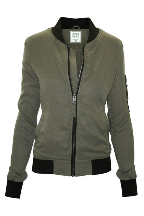 Military Bomber Jacket - Jade Creek Boutique