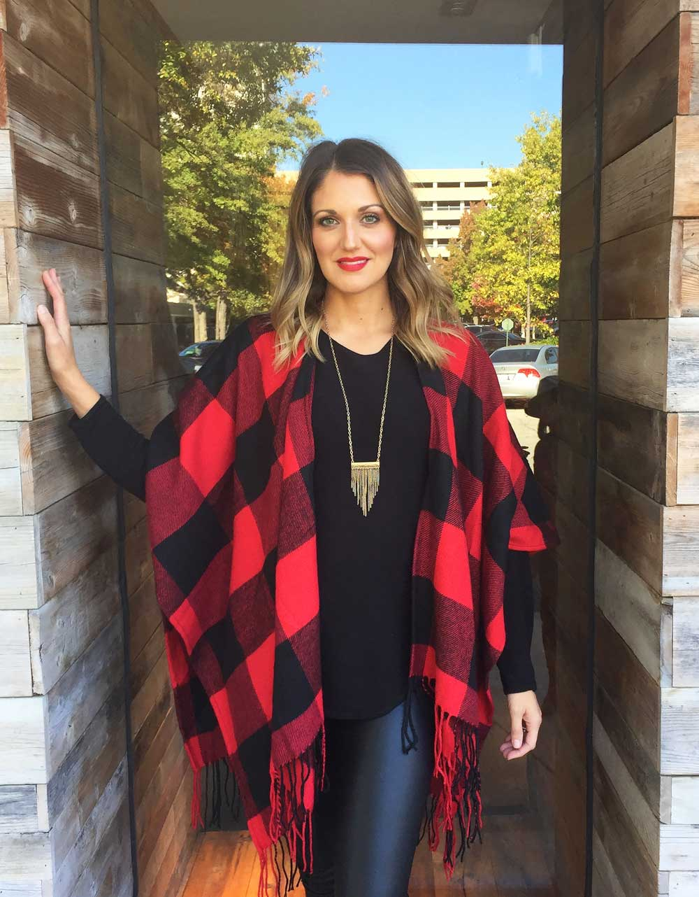 Buffalo Check Wrap, Two Colors - Jade Creek Boutique
