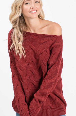 Scarlet Sienna Chunky Knit Sweater - Jade Creek Boutique
