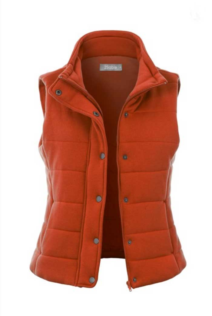 Burnt Orange French Terry Vest - Jade Creek Boutique
