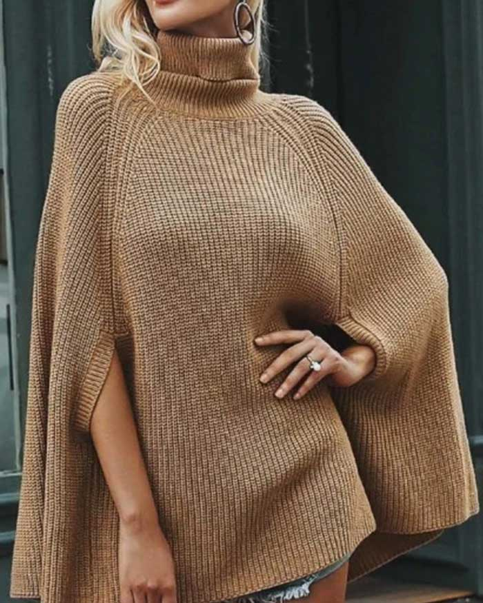 Cloak Cape Sweater, Two Colors - Jade Creek Boutique