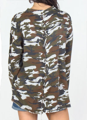 Camo Lightweight Shirt Jacket, Two Colors - Jade Creek Boutique