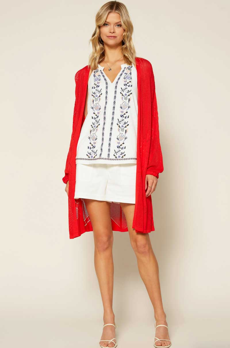 Cherry Red Cardigan - Jade Creek Boutique