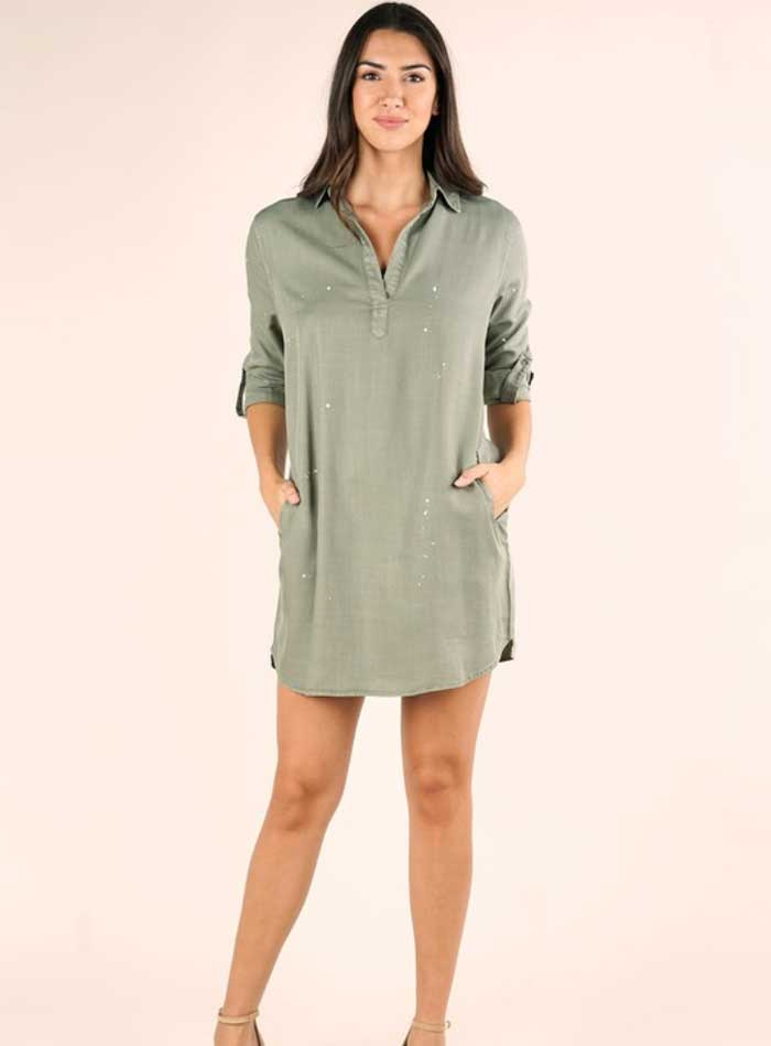 Mineral Washed Denim Dress - Jade Creek Boutique