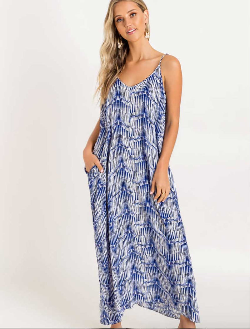 Ocean Blue Boho Maxi - RESORT COLLECTION - Jade Creek Boutique