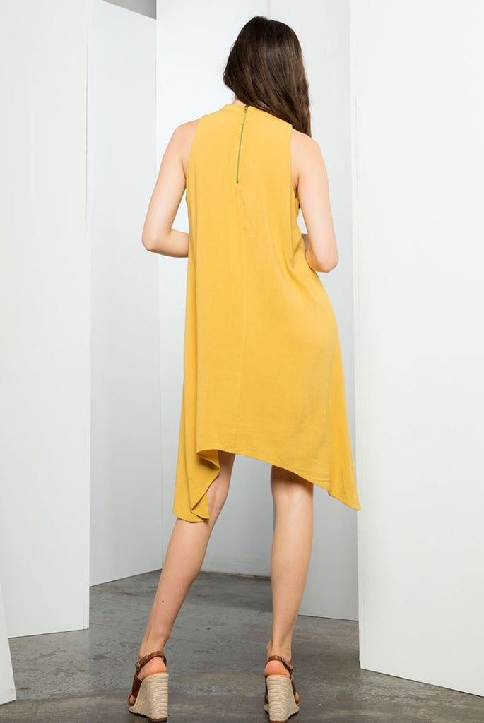 Summer Mustard Embroidered Dress - Jade Creek Boutique