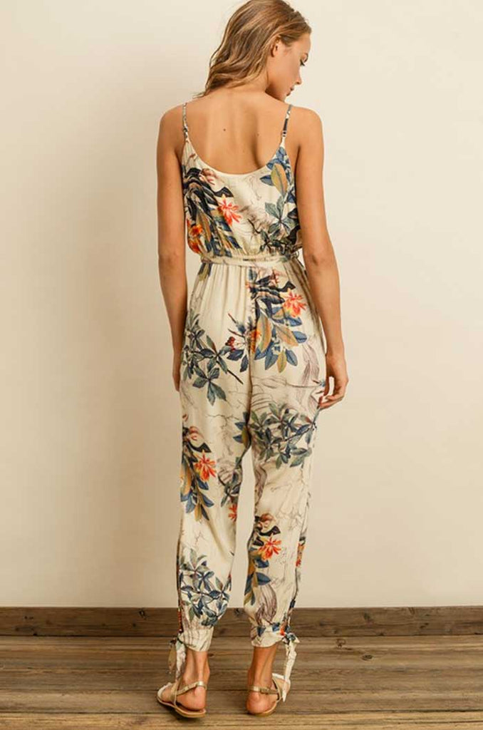 Side Split Floral Print Jumpsuit - Jade Creek Boutique