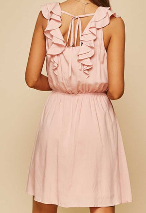 Blush Flutter Strap Dress