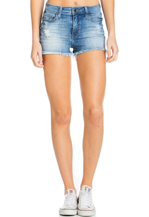 Raw Hem Denim Shorts - Jade Creek Boutique