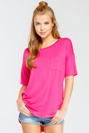 Fuchsia Cage Back Top - Jade Creek Boutique