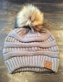CC Beanie with Pom Multiple colors - Jade Creek Boutique