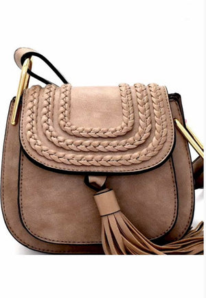 Bohemian Mini Crossbody with Tassel Accent, Two Colors - Jade Creek Boutique
