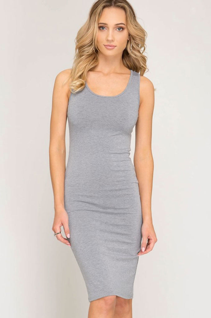 Solid Tank Dress, Two Colors - Jade Creek Boutique