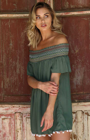 Gray Ribbed Knot Top