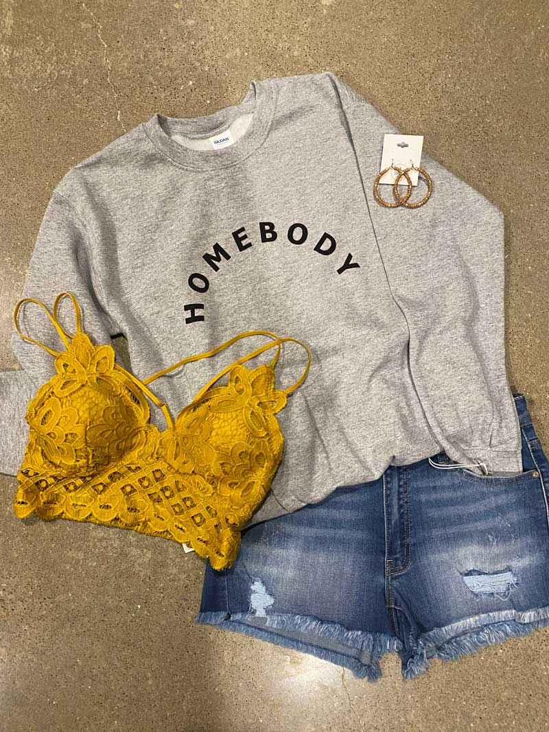 Homebody Graphic Sweatshirt - Jade Creek Boutique